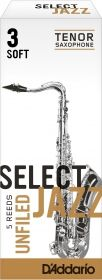 Caña Saxo Tenor D'addario Select Jazz Unfiled Soft 3